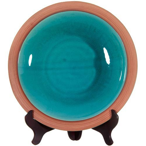 16-inch Teal Porcelain Plate