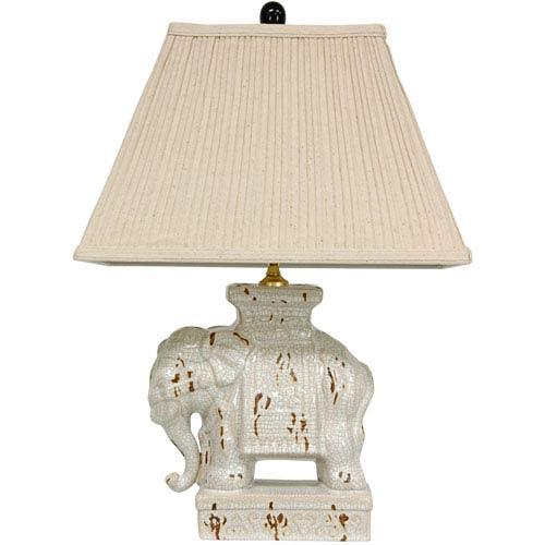 22-inch Ivory Elephant Lamp