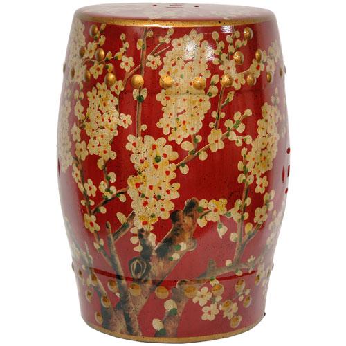Sakura Blossom Garden Stool, Width - 13 Inches