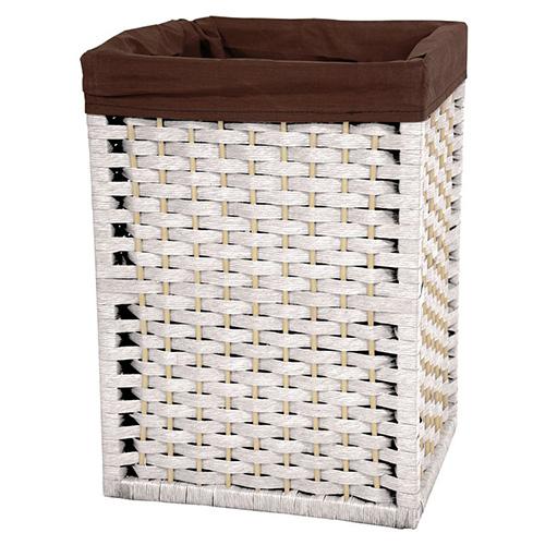 Oriental Furniture White Natural Fiber Basket