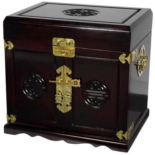 Oriental Furniture Rosewood Merbu Jewelry Cabinet