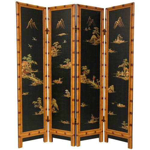 Oriental Furniture Ching Screen, Width - 64 Inches