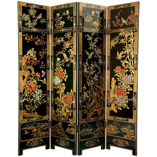 Four Seasons Flowers Screen, Width - 64 Inches