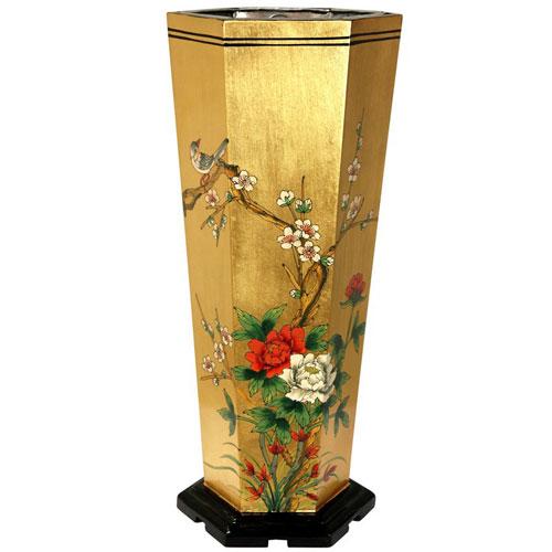 Gold Leaf Umbrella Stand, Width - 9.25 Inches