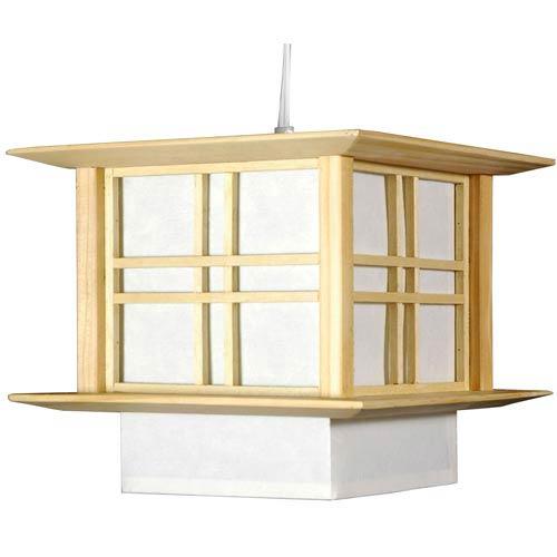 Akida Natural and White Lantern Pendant