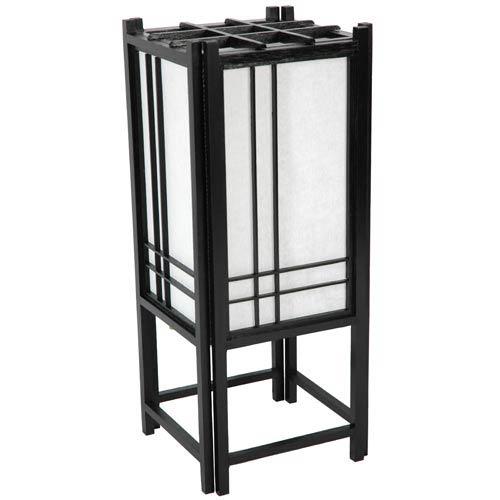 Oriental Furniture Double Cross Black Shoji Table Lamp
