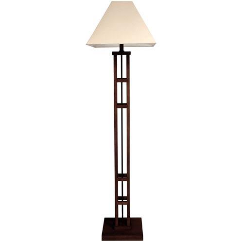 62-inch Mosko Floor Lamp - Dark Walnut