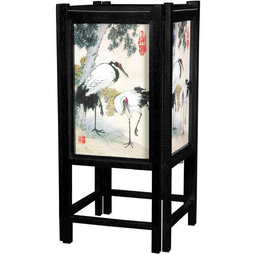 14-inch Art Shoji Lamp - Cranes