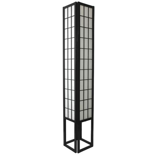 Window Pane 72-Inch Black Shoji Floor Lamp