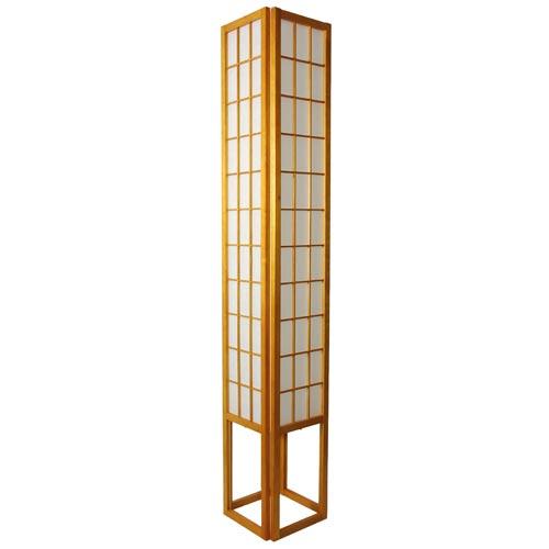Window Pane 72-Inch Honey Shoji Floor Lamp