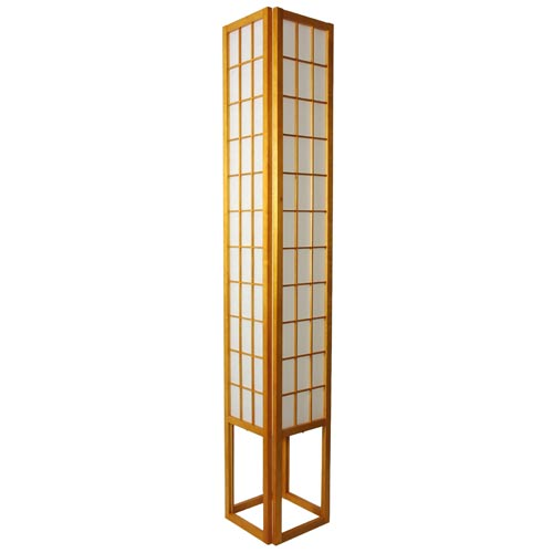 Oriental Furniture Window Pane 72-Inch Honey Shoji Floor Lamp