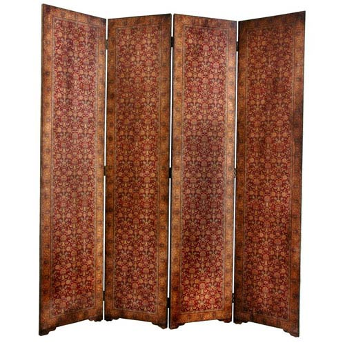 Oriental Furniture Six Ft. Tall Olde - Worlde Rococo Room Divider, Width - 63 Inches
