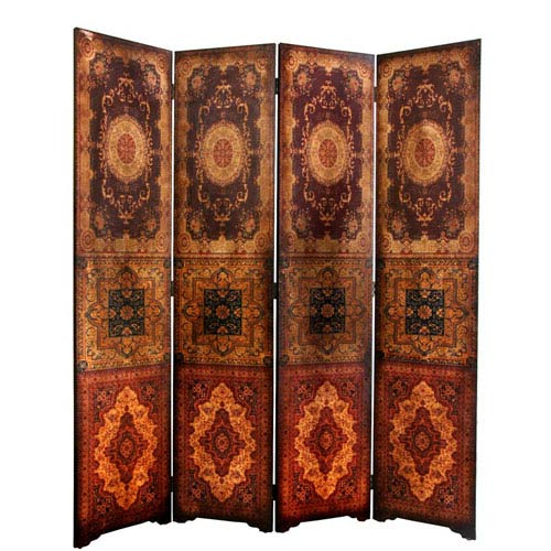 Six Ft. Tall Olde - Worlde Baroque Room Divider, Width - 63 Inches
