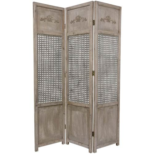 Oriental Furniture Six Ft Tall Open Mesh Room Divider Width 16 75 Inches