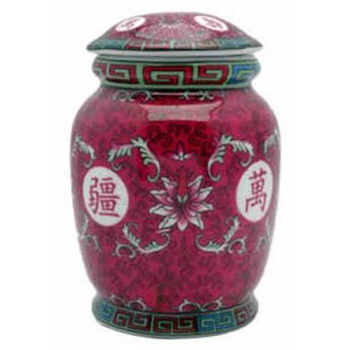 Oriental Furniture Fuchsia Tea Jar