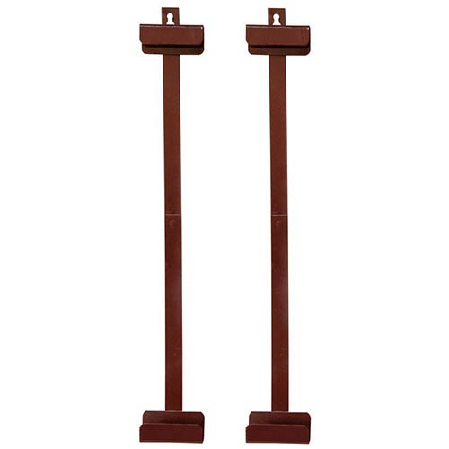 Oriental Furniture Red 36-Inch High Silk Screen Bracket