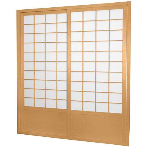 7 ft. Tall Zen Shoji Sliding Door Kit - Natural