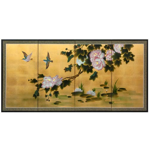 36-inch Lilly Pad Pond on Gold Leaf