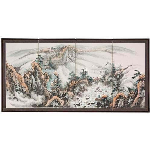 Mountaintop Landscape Silk Screen