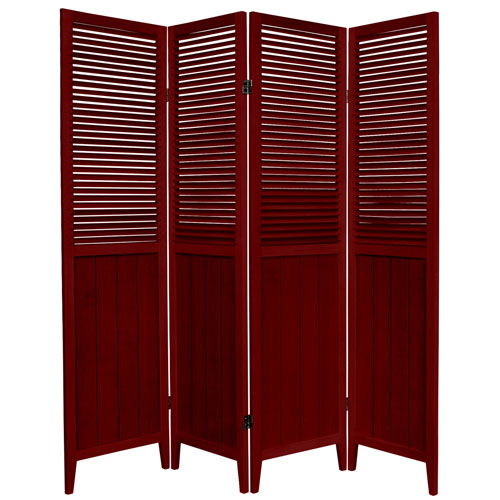 6-Foot Tall Beadboard Divider - Rosewood - 4 Panels