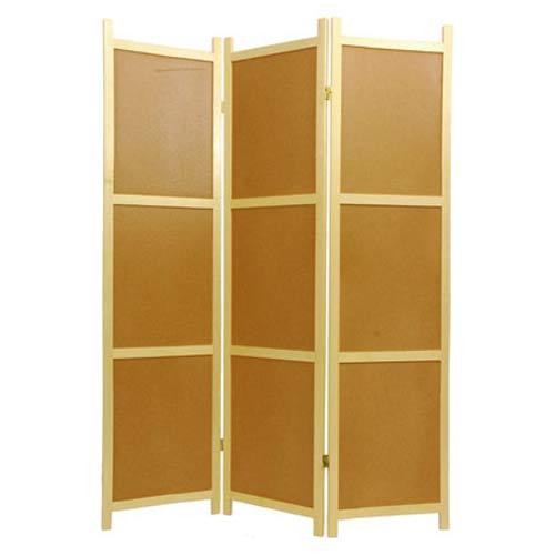 Three-Panel Cork Board Shoji Screen