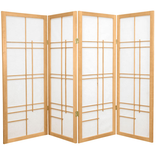 4-Foot Tall Eudes Shoji Screen - Natural - 4 Panels