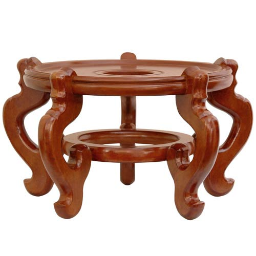 Oriental Furniture Rosewood Fishbowl Stand - Honey 15.5 Inch