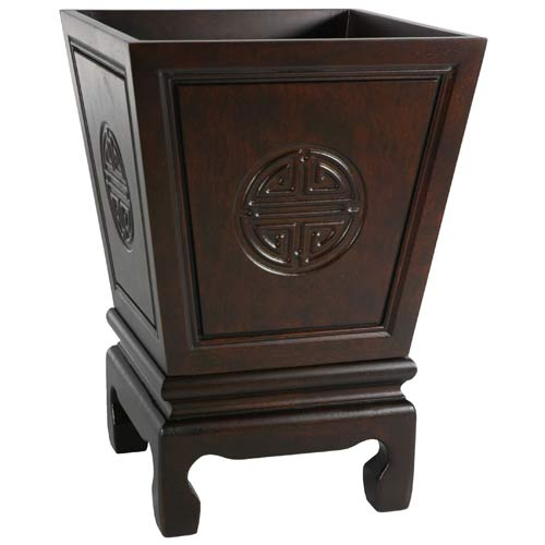 Oriental Furniture Long Life Flower Container Rosewood