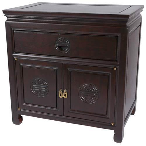 Beau Bedside Cabinet Dark Rosewood