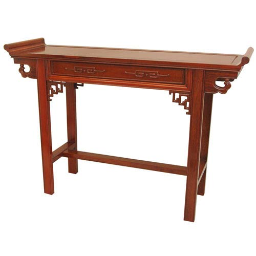 Oriental Furniture Rosewood Qing Hall Table - Honey, Width - 46 Inches