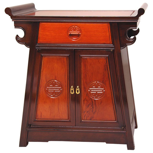 Rosewood Altar Cabinet - Two Tone, Width - 26 Inches