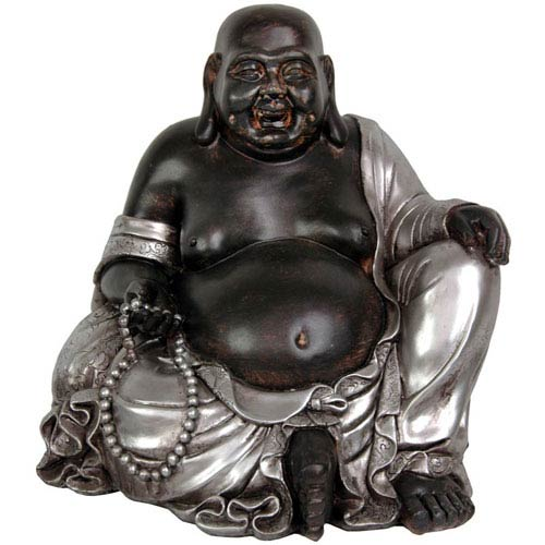 Sitting Happy Buddha Statue, Width - 12 Inches