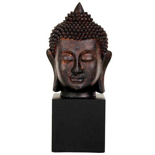 Brown 10-Inch Tall Thai Buddha Head Statue