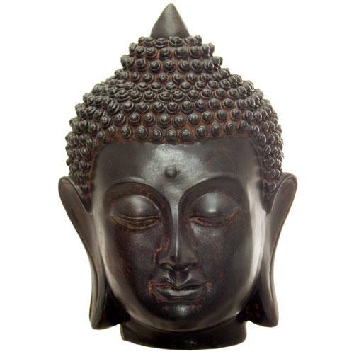 Oriental Furniture 6-Inch Thai Buddha Head Statue