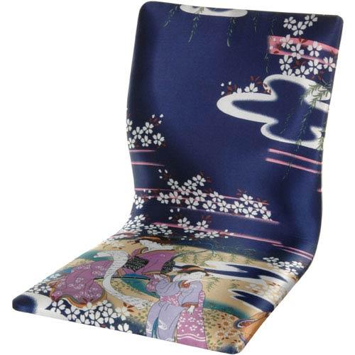 Tatami Meditation Backrest Chair - Indigo Geisha, Width - 14.5 Inches