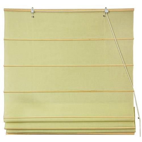 Oriental Furniture Cream Yellow 48-Inch Wide Cotton Roman Shade