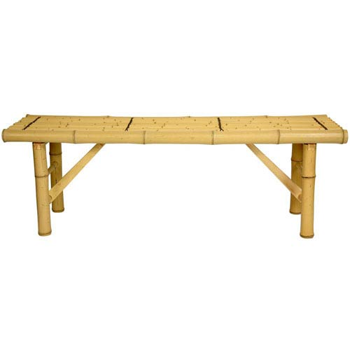 4ft. Japanese Bamboo Folding Bench - Light, Width - 47 Inches