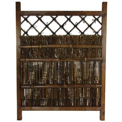 Oriental Furniture Bamboo Fence Door, Width - 35.5 Inches