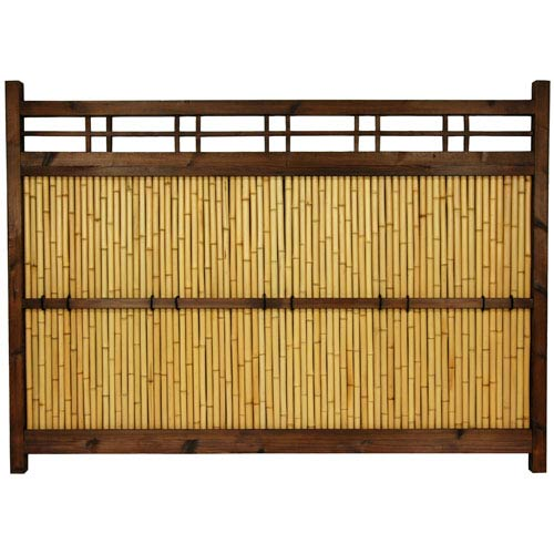4 ft. x 5.5 ft. Japanese Bamboo Kumo Fence
