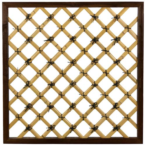 3 ft. x 3 ft. Tall Traditional Bamboo Trellis