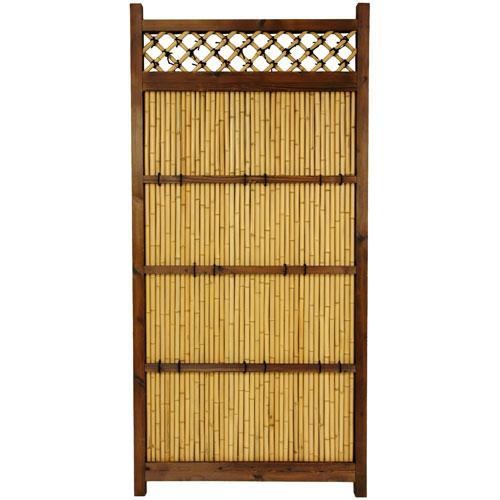 Oriental Furniture Japanese Bamboo Zen Garden Fence, Width - 34.5 Inches