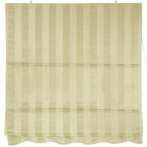 Oriental Furniture Striped Roman Shades Cream 72 Inch Width Inches