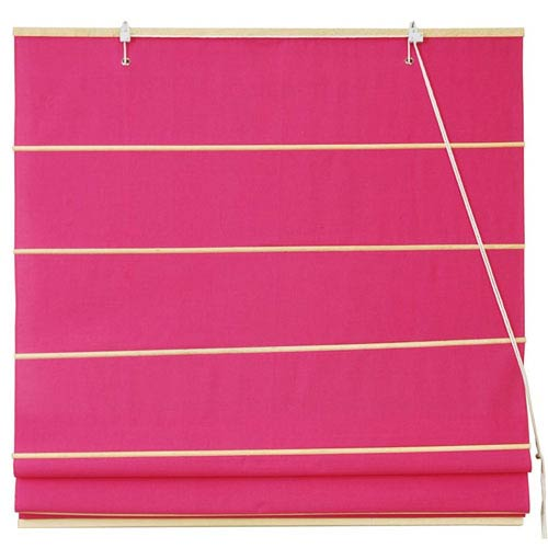 Oriental Furniture Cotton Roman Shades - Pink 72 Inch, Width - 72 Inches
