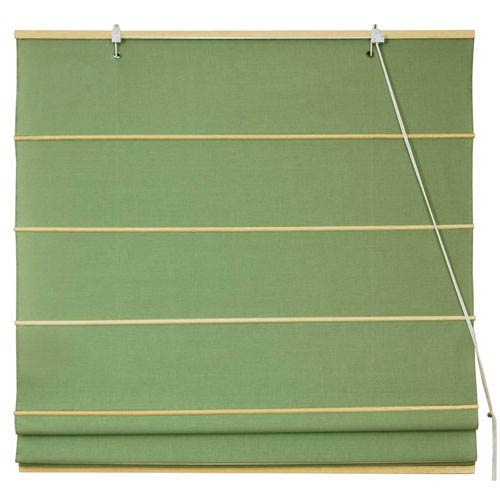 Oriental Furniture Cotton Roman Shades - Light Green 60 Inch, Width - 60 Inches