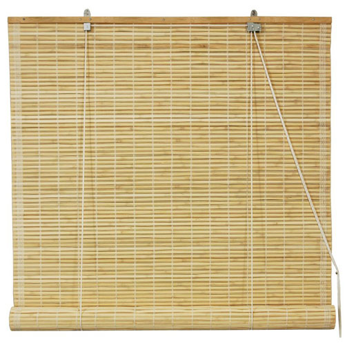 Bamboo Roll Up Blinds - Natural 72 Inch, Width - 72 Inches