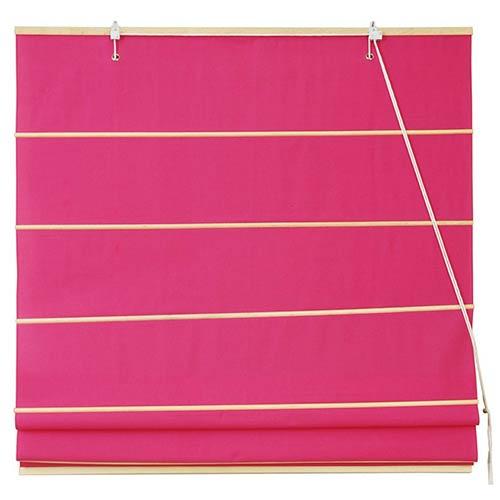 Oriental Furniture Pink 48-Inch Wide Cotton Roman Shade