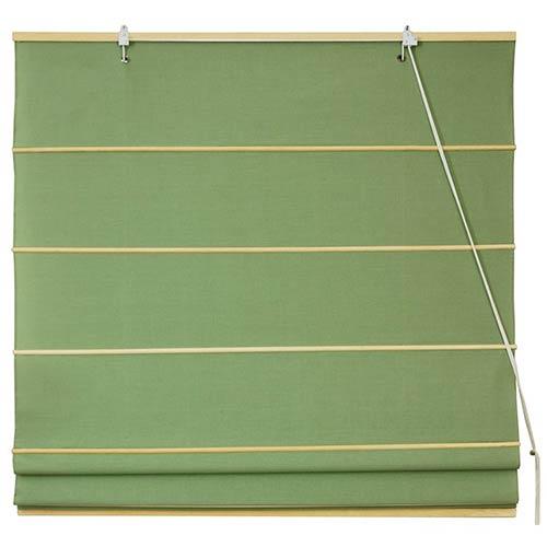 Oriental Furniture Light Green 48-Inch Wide Cotton Roman Shade