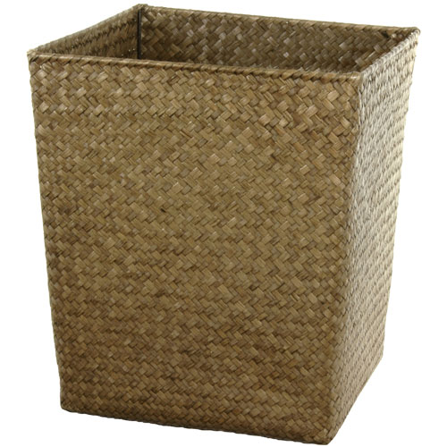 Hand Woven Natural Storage Bin Set, Width - 14.25 Inches