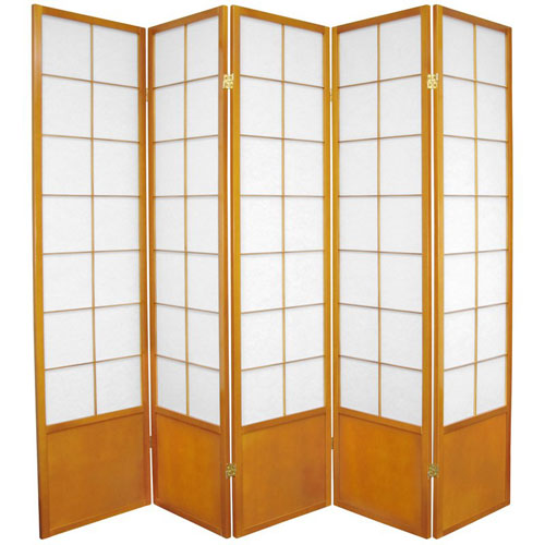 Zen Shoji Screen Honey Five Panel, Width - 85 Inches
