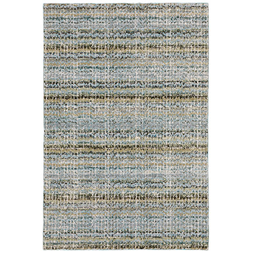 Atlas Blue Rectangular: 6 Ft. 7 In. x 9 Ft. 6 In. Rug